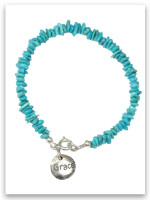 Turquoise Chip Touched By Grace Children's Bracelet