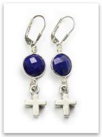 Bold Faith Lapis Earrings