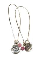 Pink Warrior HOPE Earrings
