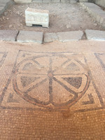 The mosaic floor is the same design of peace of the LORD. It is inside the only synagogue uncovered in the Galilee area from the day of Jesus.  We know HE would have been here.  Right here on this mosaic floor with the design he woke me in the night 18 years ago to design.