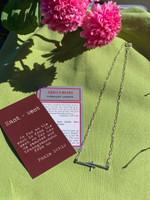 E-W Trio Cross Necklace