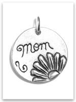 Sterling Silver Mom Charm