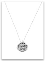 Choose Joy Sterling Silver Charm Necklace