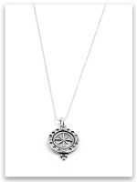Spirit Lead Me Sterling Silver Charm Necklace