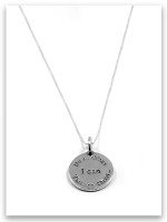 I Can Sterling Silver Charm Necklace