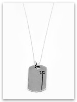 Dog Tag 4:13 Sterling Silver Pendant Necklace