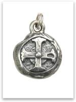 Sterling Silver Hoplon Shield Charm