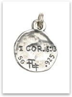 Sterling Silver Hoplon Shield Charm