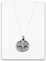 Jesus Wept Sterling Silver Pendant Necklace