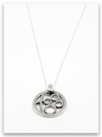 Circle of Love Sterling Silver Grandmother Pendant Necklace- 4 Grandchildren
