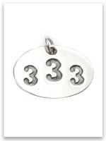 333 Sterling Silver Pendant