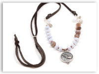 Angel Messenger Chocolate Moonstone Adjustable Necklace