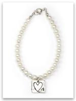 Love Is Pearl & Sterling Silver Children's Bracelet