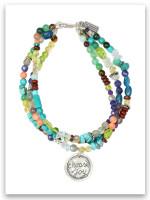 Choose Joy Triple Bracelet-Precious/Semi Precious Stones
