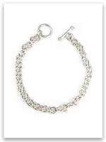 Rolo Toggle Charm Bracelet, Sterling Silver