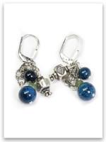 Eilat Stone Cluster Sterling Silver Earrings