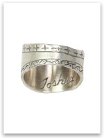 Be Courageous Sterling Silver Ring (back)