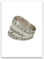 Be Courageous Sterling Silver Ring