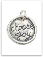Sterling Silver Choose Joy Charm