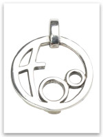 Grandmother's Circle of Love Sterling Silver Pendant (2 Grandchildren)