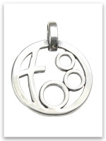 Grandmother's Circle of Love Sterling Silver Pendant (3 Grandchildren)