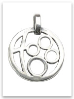 Grandmother's Circle of Love Sterling Silver Pendant (4 Grandchildren)