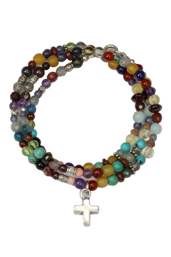 Stones Cry Out Bold Faith Triple Wrap Bracelet