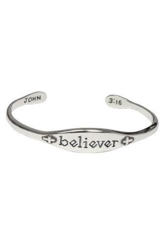 Believer Cuff Sterling Bracelet