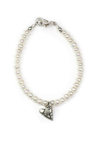 The greatest of these is love-pearl bracelet, 1 Corinthians  13:13