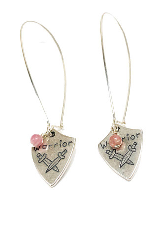 Pink Warrior Earrings