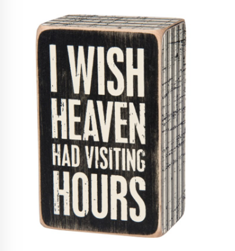 Visiting Hours Box Sign