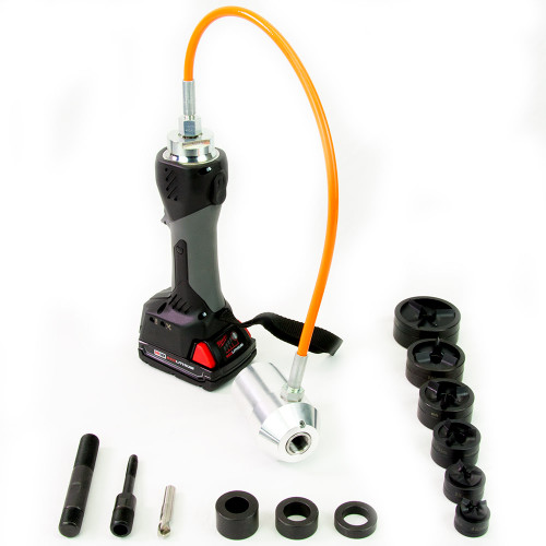 "ALFRA 02082.120T AKKU Compact Flex Cordless Punch Kit w/TriCut 1/2"" - 2"" Conduit punch/die sets"