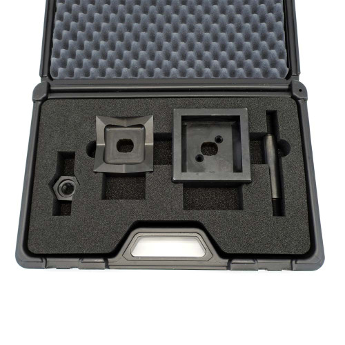 """ALFRA FormCut 01309 Square Punch and Die Set, 3-5/8"""" x 3-5/8"""", 1/4 DIN"""