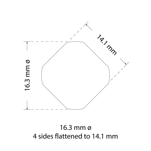 """ALFRA 01427 Special Shape Punch, Die 5/8"""" (16.3 mm) 4 Sides Flat to 9/16"""" Set (01427)"""