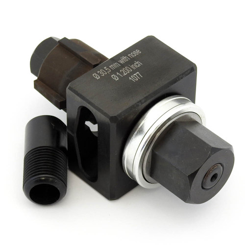ALFRA 01430 Special Shape Punch, Die 30.5 mm with four 4.8 mm External Notches Set