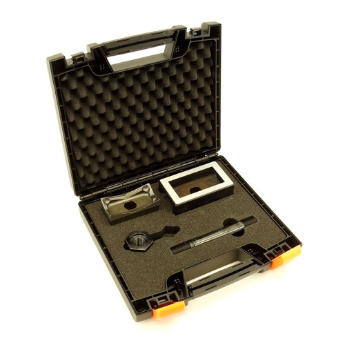 """ALFRA 013141 Square Punch, Die and Screw Set 1 3/4"""" x 3 5/8"""" (45 x 92 mm) - 1/8 DIN"""