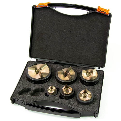 """ALFRA 01645 TriCut Plus Series Round Punch and Die Kit, 1/2"""" to 2"""" Conduit Sizes"""