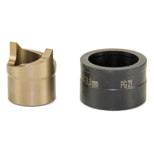 """ALFRA 01531 TwinCut Round Punch and Die Set 1-3/32"""" DIA"""