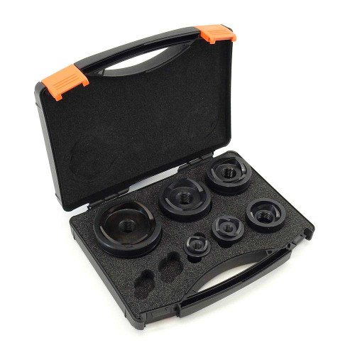 """ALFRA 01459 MonoCut Round Punch and Die Kit, 1/2"""" to 2"""" Conduit DIA"""