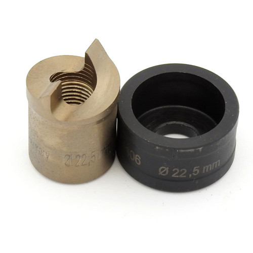 """ALFRA 01525 TwinCut Round Punch and Die Set 7/8"""" DIA"""