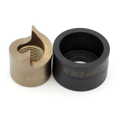 """ALFRA 01534 TwinCut Round Punch and Die Set 1-7/32"""" DIA"""
