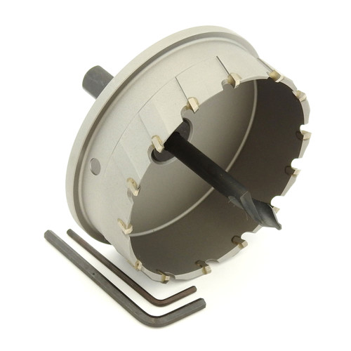"ALFRA 0760095 MBS-PRO Series TCT HOLE SAW, 3-3/4"" DIA, 1-3/16"" DOC"