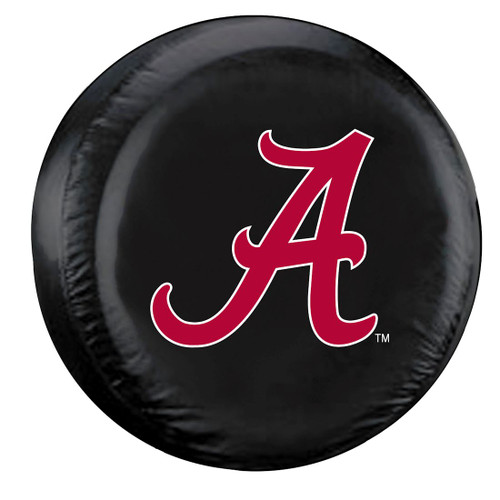 "These great NCAA tire covers are made with a heavy gauge vinyl that has an elastic tie down for an easy fit. It is a universal fit tire cover that fits tires that are 27""-29"" in diameter, and up to 10"" in thread width. It's also water resistant, and wipes clean with a damp cloth. Please note: Unfortunately, this tire cover does not fit wide tires or some all-terrain tires due to tread size. Please measure your tire before installing to ensure proper fit. Made By Fremont Die"