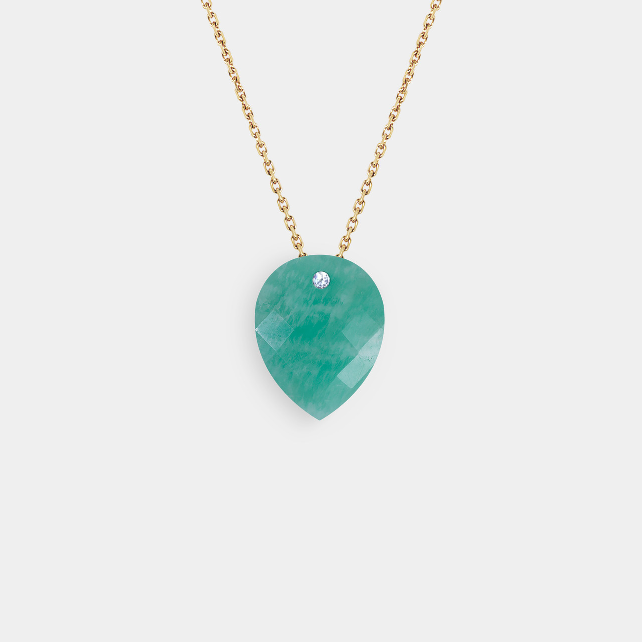 Collier Pierre 1 Dizmamant Amazonite, Collier Or Femme Amazonite