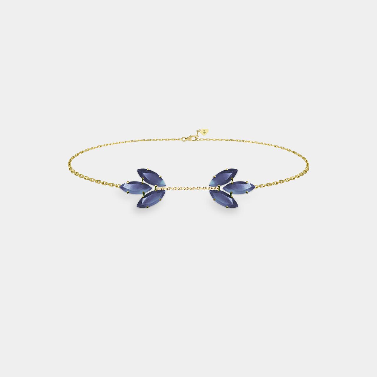 Bracelet Navette Iolite, Bracelet Femme Iolite