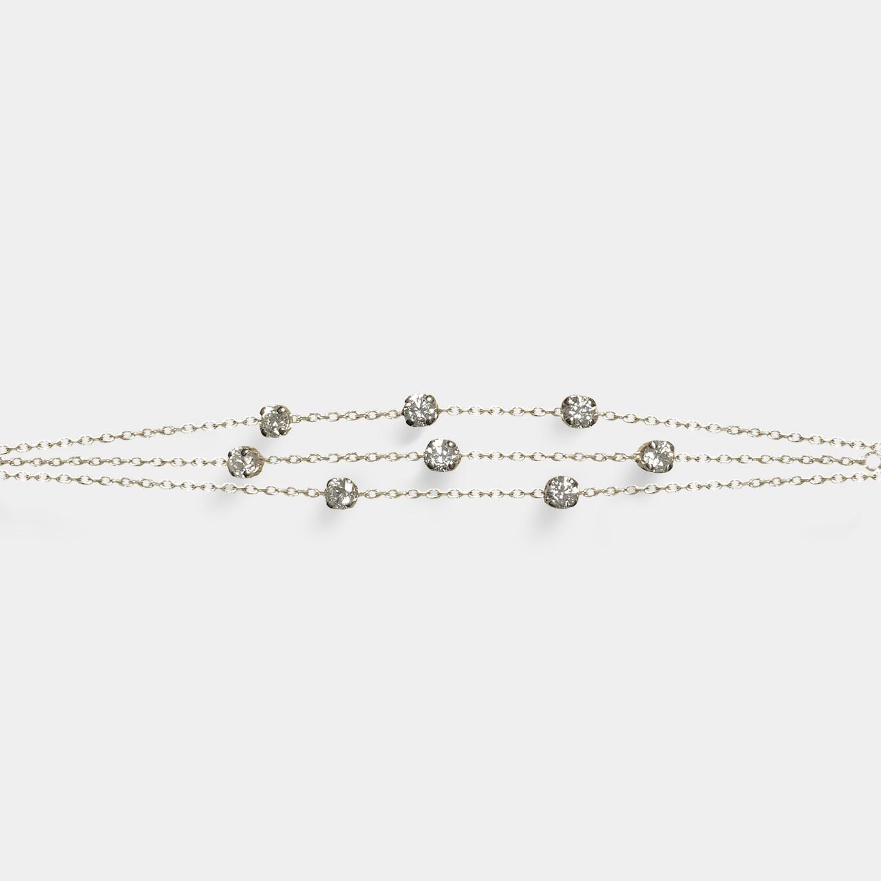 Bracelet 3 Rangs Diamants, Bracelet Or Femme Diamants