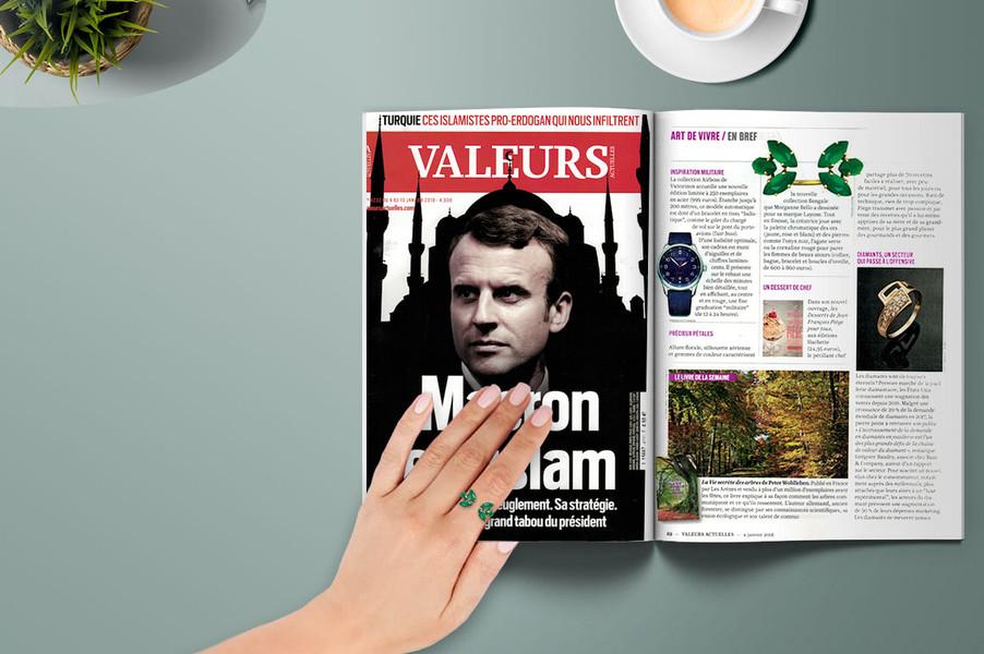 VALEURS ACTUELLES - Bijoux Pierre Verte de la Collection Bengale chez LAYONE Paris