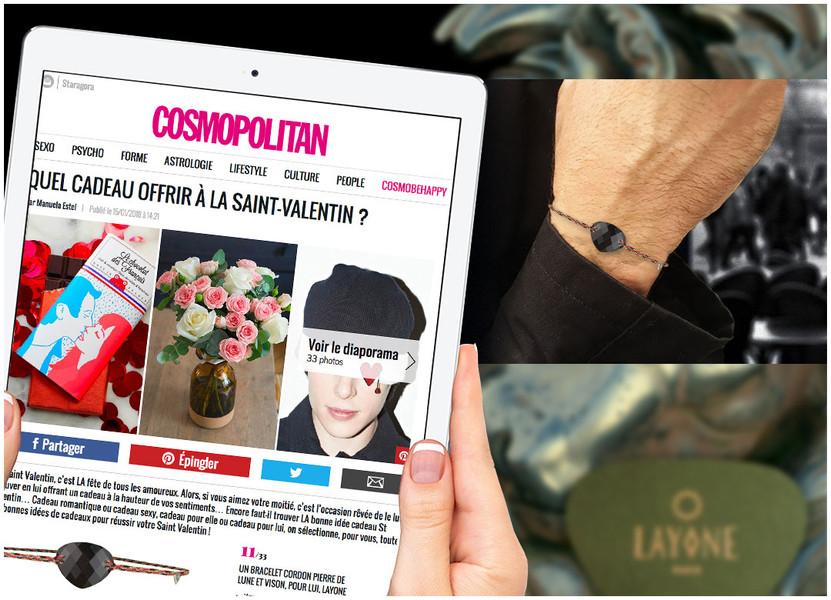 Cosmopolitan - Le Bracelet Cordon Homme LAYONE pour la Saint-Valentin