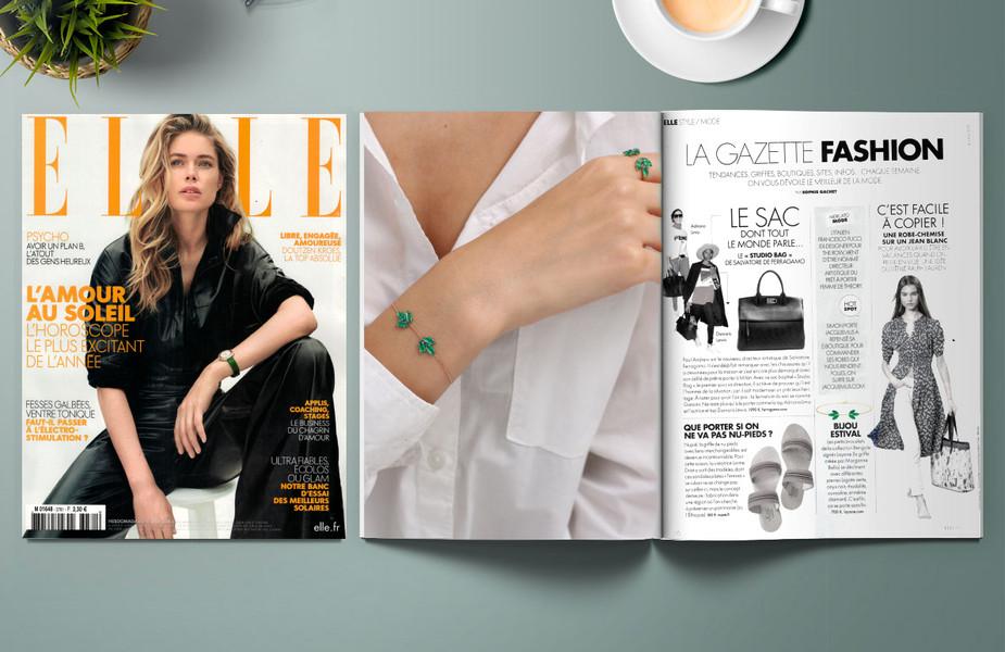 ELLE - LAYONE Paris bracelet Bengale Agate Verte