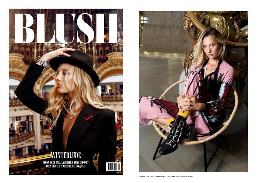 BLUSH DREAM  - Le Top Model Ilona Smet porte les Bijoux Pierres Fines de LAYONE Paris